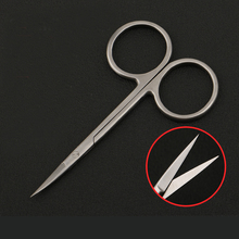 Gold handle double eyelid surgery scissors ophthalmology stainless steel beauty plastic surgery tools straight elbow scissors