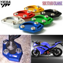 FOR KAWASAKI NINJA 650 250 300 ER6N ER-6N ER 6N ER6F ER-6F ER 6F Motorcycle CNC Kickstand Side Stand Plate Pad Enlarge Extension foot operated gear pedal foot pad for kawasaki ninja zx6r zx9r zx10r zx12r er 4n er 6n er 6f motorcycle shift lever covers