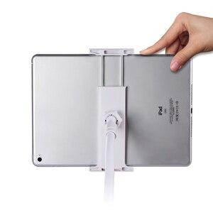 Image 4 - Гибкий Настольный держатель для планшета iPad Mini Air Samsung, подставка для ленивого планшета, ПК, крепление большого телефона