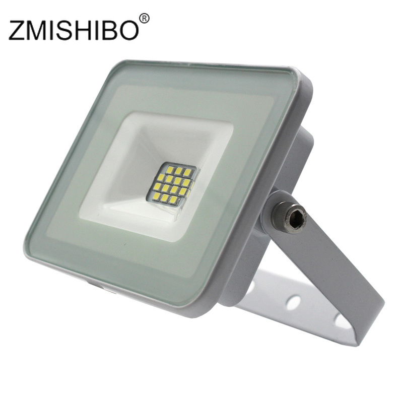 ZMISHIBO High Quality LED Floodlight White Body Projector Lamp10W 220-240V IP65 Waterproof Landscape Lighting LED Road Lawn LampZMISHIBO High Quality LED Floodlight White Body Projector Lamp10W 220-240V IP65 Waterproof Landscape Lighting LED Road Lawn Lamp
