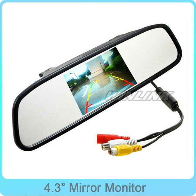 "Wholesale New 4.3"" TFT LCD Car Mirror Monitor and Auto Video Monitor With 2 Video input"