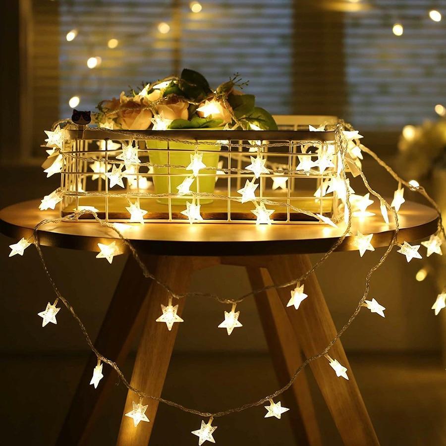 10M 100leds 110V/220V Star LED String Lights For Xmas Garland Party Wedding Ramadan Decoration Christmas Holiday Fairy Lights
