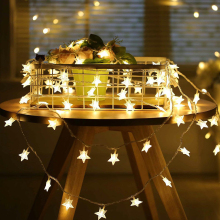 10M 100leds 110V / 220V Star LED-uri cu LED-uri de coarde pentru Xmas Garland Party Nunta Ramadan Decorare Craciun de Craciun Fairy Lights