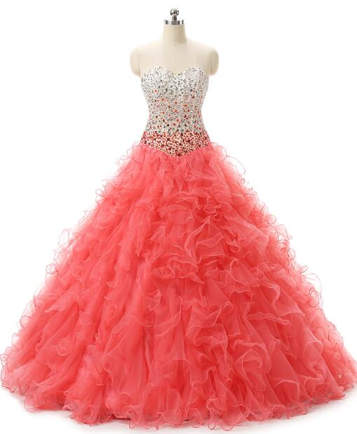 In Stock Tulle Ruffled Beading Quinceanera Dress For 15 Years Cheap Masquerade Dresses Vestido Debutante Gowns 15