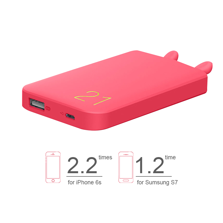 imágenes para Precioso 6000 mAh ROMOSS Banco de la Energía Externa Móvil Batería Estación de Carga Para Móviles Tablets Pc Perfecto regalo para GF niñas