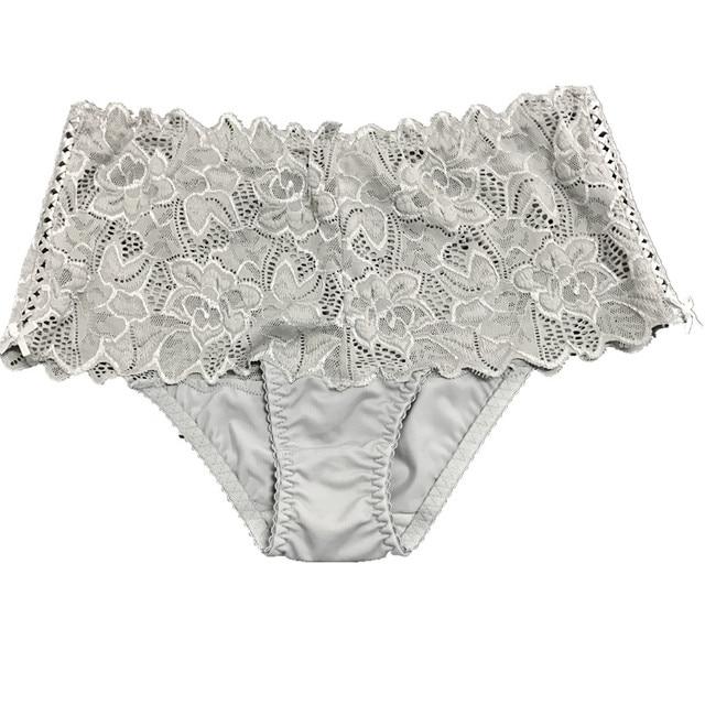 82de3456db2 Lacy Panties High Waist Transparent Briefs Ladies Women s Plus Size Sexy  Underwear For Woman