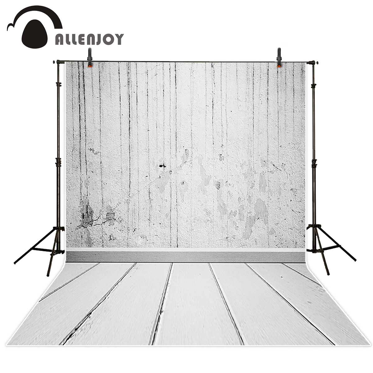 Allenjoy photography theme background old shabby brick wall floor drop photo studio props photography backdrops photographer 5x7ft brick wall board flood theme photography background for studio photo props vinyl photographic backdrops cloth 1 5x 2 1m