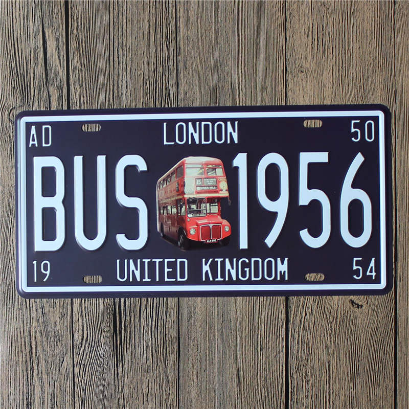 Accessories Vintage Car License Plates