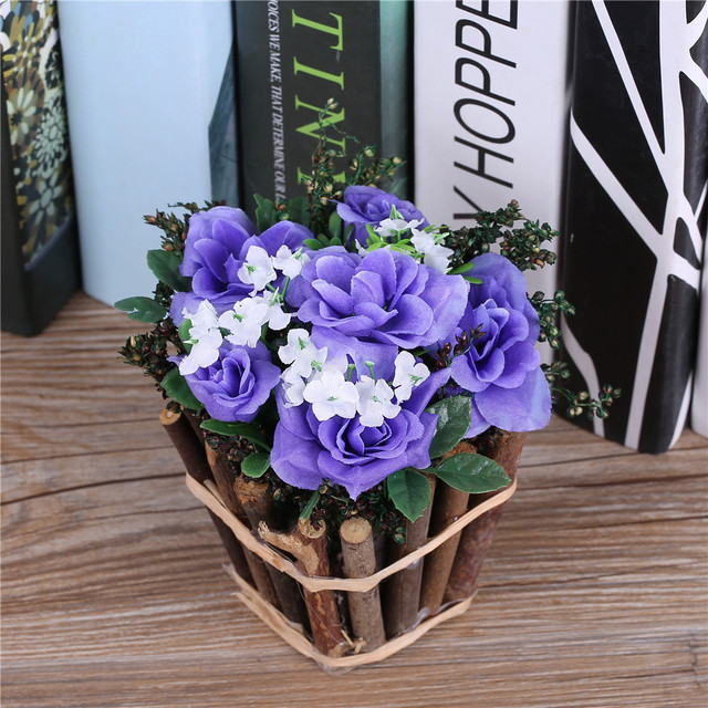new arrival!countryside artificial flowers arrangement decorative Silk Fake Plants