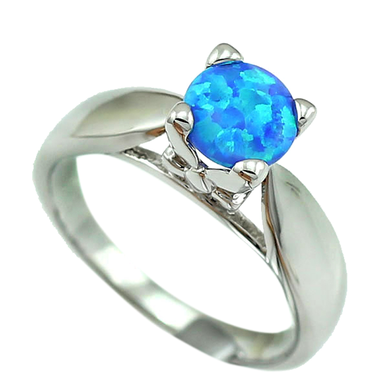Aktiv Haimis Blau Feuer Opal Frauen Klaue Inay Mode Schmuck Opal Ring Größe 6 6,5 7,5 53b Rheuma Und ErkäLtung Lindern