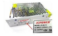 Ücretsiz Kargo AC 110-240 V DC 12 V 5A Anahtarlama Güç Kaynağı Dönüştürücü güç kablosu ile PS-12V-5A
