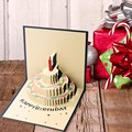 3D Cards Handmade Pop Up Greeting Card Happy Birthday Cake Greeting Card Handcrafted Kirigami Origami Gifts With Envelope