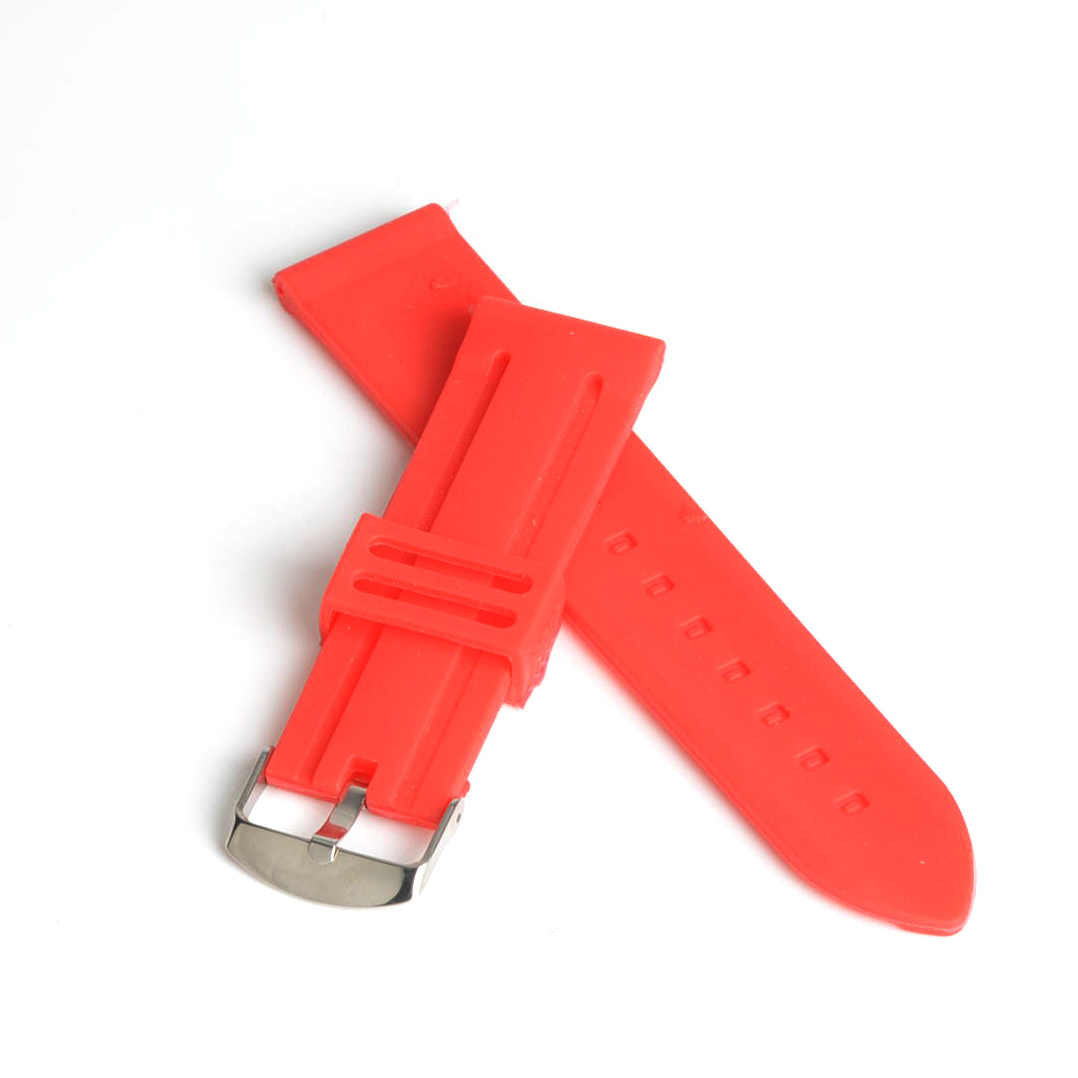 Men Women 22mm Red Silicone Watch Band Strap Bracelet Fashion Watchband for Sport Watch Student Watch