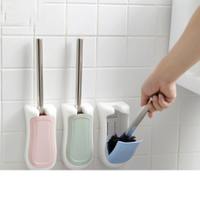 050 Multi-function Wall mounted semi automatic toilet lid with base brush 21*10cm