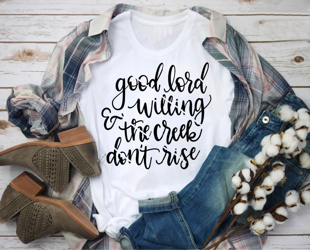 Gute Herr Bereit & Die Creek nicht Steigen t-shirt Jesus Christian slogan mode unisex pastell ästhetischen shirt casual geschenk tees