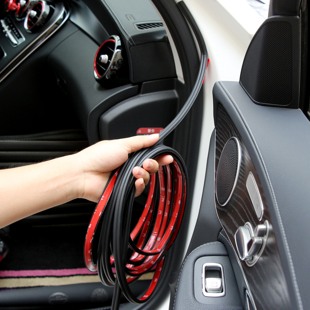Image 2 - 5M Car Door Seal Soundproofing Strip For Ford Focus 2 3 VW Polo Golf Passat B6 B5 B7 T4 Skoda Rapid Fabia Octavia 2 A5 A7-in Car Tax Disc Holders from Automobiles & Motorcycles