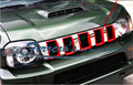 1 pçs/lote ABS cromado para 2009-2015 Suzuki Jimny car adesivos de Carro decoração grade lantejoulas cobrir