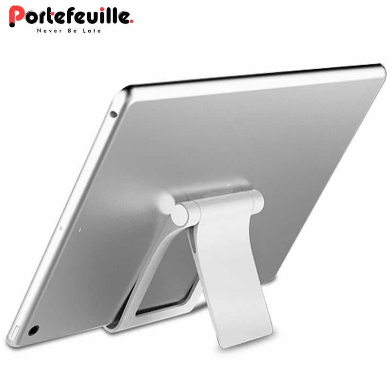Ascromy Lipat Desktop Ponsel Tablet Stand Pemegang untuk Xiaomi Redmi Note 5 Iphone X X 8 Ipad Samsung S9 xiomi Tablet Mount