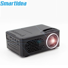 SmartIdea New Mini led projector video game Beamer Portable Proyector Audio/AV/USB/SD build-in Battery optional Cheap price(China)