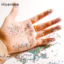 New 2mm Colourful 3D Shining Jelly AB Acrylic Resin DIY Nail Art Tips Jewelry Wedding Dress Diamonds Nail Art Accessories Tool