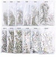 2016 Super Glitter Rhinestones Crystal AB Ss3 Ss50 Non HotFix FlatBack Strass Sewing Fabric Gament Glass