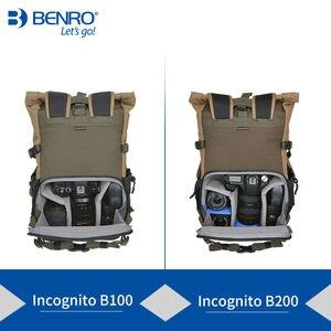 Image 2 - Benro incognito mochila dslr, bolsa de vídeo notebook, câmera de grande tamanho, macia, estojo de vídeo, capa de chuva