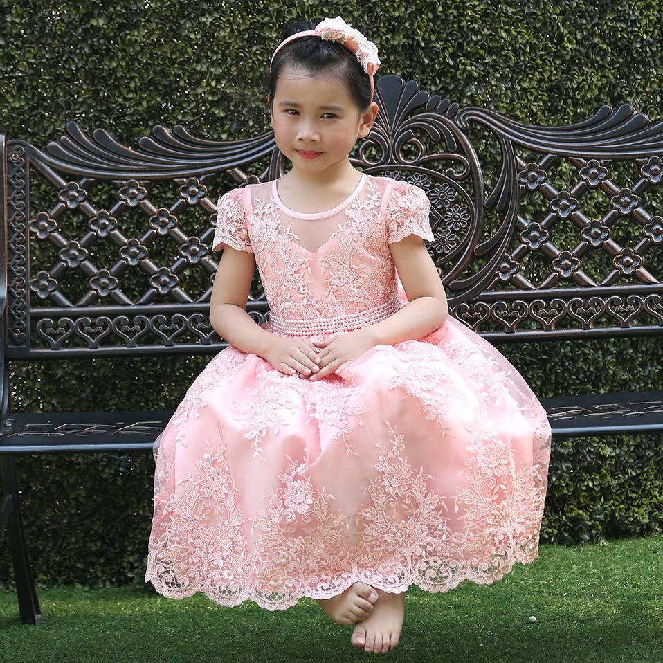 Online Get Cheap Vestidos De Color Rosa Para Las Niñas ...
