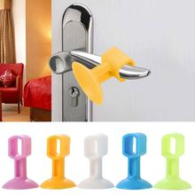 2pcs Doorknob Wall Mute Crash Pad Cushion Cabinet Door Handle Lock Silencer Attached Silicone Anti-collision House Door Stoppe 1pcs golf rubber silicone door handle knob crash pad wall protectors buffer anti collision doorknob lock crash pads hg0377