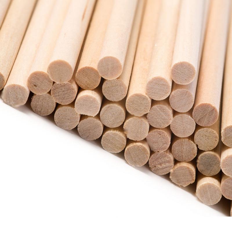 Wood Sticks 50pcs Craft DIY Welding Round Dowel Sticks Model Bar Making Wood Parts Rod For Model Toys Carving DIY Crafts