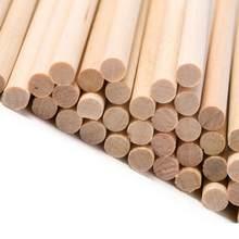 Wood Sticks 50pcs Craft DIY Welding Round Dowel Sticks Model Bar Making Wood Parts Rod For Model Toys Carving DIY Crafts(China)