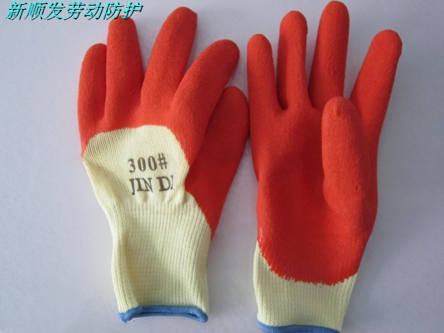 High quality working gloves wear-resistant gloves hanging rubber gloves thickening of the whole 12 double 60 thickening of the whole pure copper