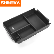 SHINEKA Car Interior For Ford F150 2015-2018 Armrest Storage Box Glove Tray Container 15+ Plastic Accessories