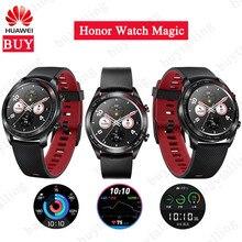 Original Huawei HonorนาฬิกาMagicกลางแจ้งSmartWatchเพรียวบางยาวอายุการใช้งานแบตเตอรี่สนับสนุนGPS NFC Coach Amoled HonorนาฬิกาDream