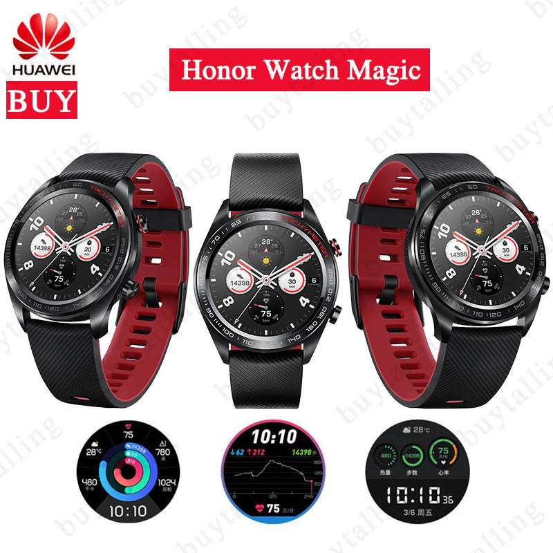 Original Huawei Honor Watch Magic Outdoor SmartWatch Sleek Slim Long Battery Life Support GPS NFC Coach Amoled Honor watch dream-in Smart Watches from Consumer Electronics    1