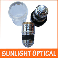 1PC 100x L 185 School Lab Eductional Student Use Achromatic Optical Objective Lens For Biological Microscope