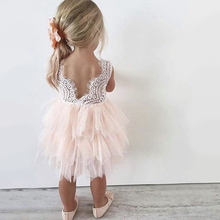 Princess Girl Sleeveless Bow Dress for 1 year birthday party