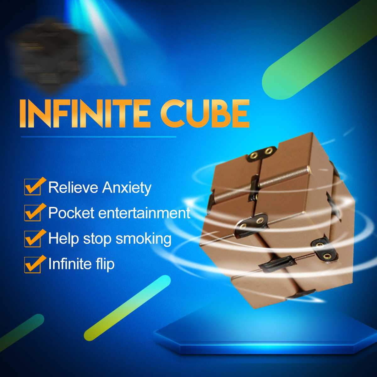 Mini Infinit Juguetes Cubes Anxiety Stress Relief Office Working Toy 4x4x4cm Hand Killing Time For Kids Adults Stress Desk Toy