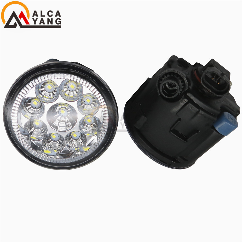 Malcayang 6000K CCC 12V car-styling DRL Fog Lamps lighting LED Lights eagle eye 55W /1 SET for NISSAN CUBE (Z12) 2010+2015 2 pcs set car styling 6000k ccc 12v 55w drl fog lamps lighting for renault megane 2 estate 2002 2015 35500 63j02