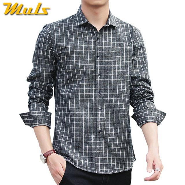 cafc26deeb35f 4Colors Plaid shirts men long sleeve casula 2017 autumn spring new cotton  male shirts plus size