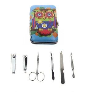 6Pcs/Set AliExpress Fast Shipping Manicura Manucure Handbag Manicure Set Include 1Pcs Nail Scissor 2Pcs Nail Clipper