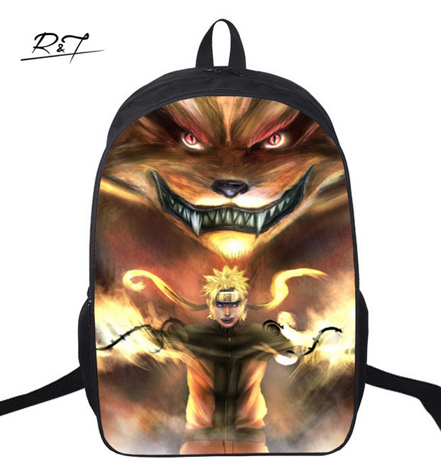 16 Inch Naruto Kids Backpack Mochila Children Student Schoolbag Male Travel Mochila Escolar Gift Kids