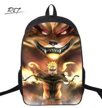 16 Inch font b Naruto b font Kids Backpack Mochila Children Student Schoolbag Male Travel Mochila