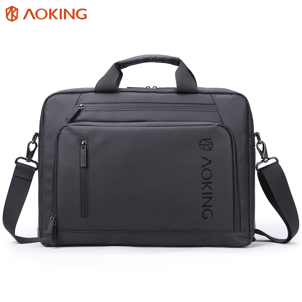 Aoking New Black Nylon Men s Bag Briefcase for Laptop Portable Business Briefcase for Documents Large