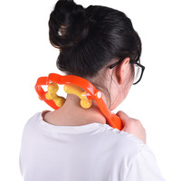 Neck Massager Massage Pain Relief Massagers U Shaped Adjustable Massager Neck Manual Hammer Fitness Stretching Head