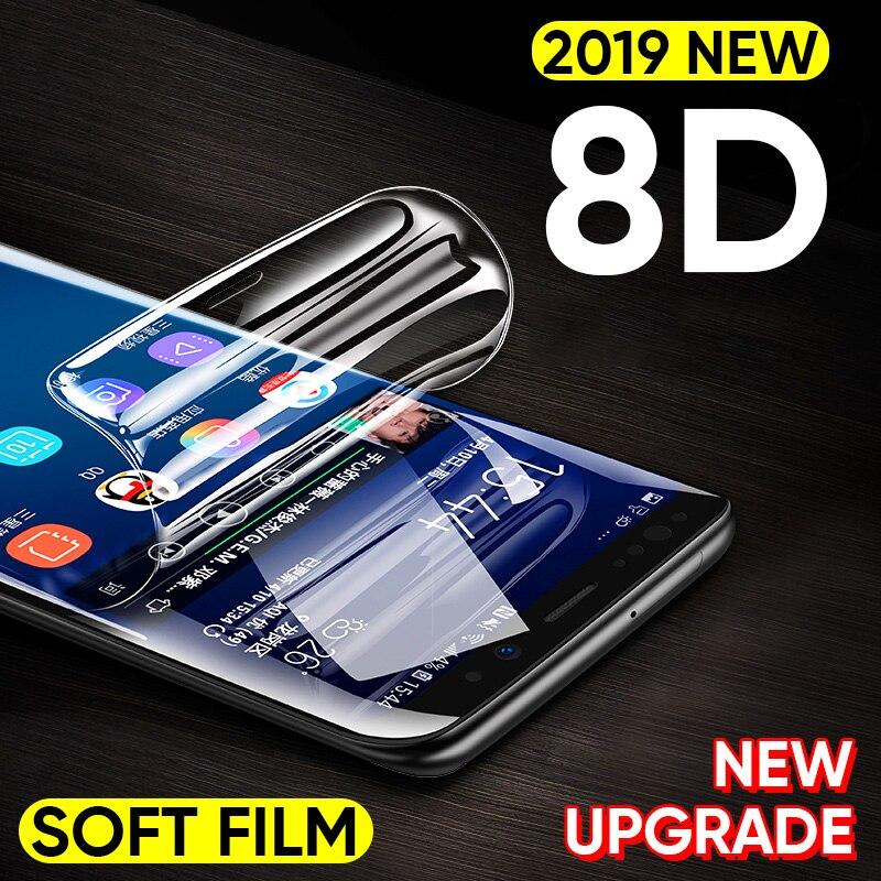 8D מלא כיסוי רך הידרוג 'ל סרט לסמסונג גלקסי הערה 8 9 S8 S9 מסך מגן עבור סמסונג S9 S8 s7 S6 קצה בתוספת לא זכוכית