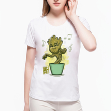 2017 New Movie Fashion I Am Groot Guardians of the Galaxy 2 Baby Groot T shirt Summer Classic Top Female Tees Kawaii Top L9I19