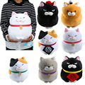 New 7 Models Amuse Cat Plush Toys Cute Japan Amuse Bread Blessing Cat Soft Animal Cat Stuffed Plush Dolls Free Shipping