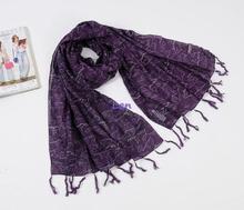 Letras púrpura bufanda de algodón del estilo occidental dulce All season mantón bufanda de la alta calidad del mundo 175 * 75 cm