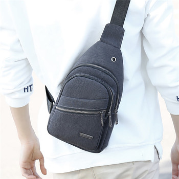 Men Small Bag Wild Messenger Bag Fashion One Shoulder Plaid Chest Bag New Multifuction  For Student School Bag mochila messenger bag