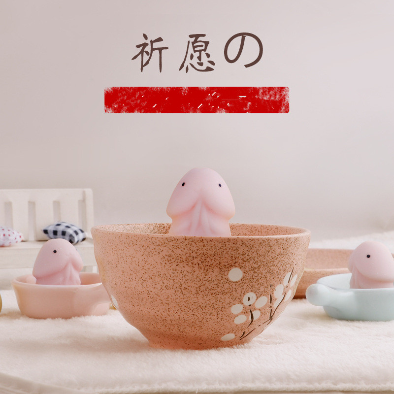 Funny Penis Shape Slow Rebound PU Decompression Squishy Toy Slow Rising Stress Relief Toys Relax Pressure Toys Interesting Gifts